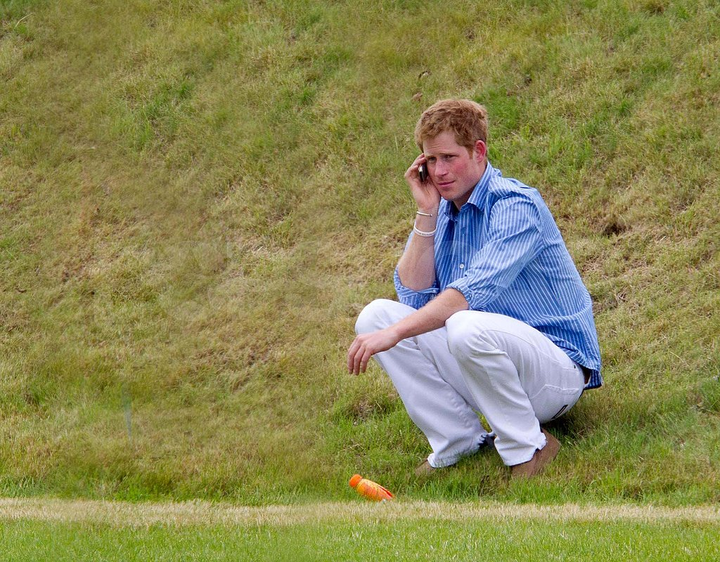 Prince Harry Horses Around With Pals at a Charity Polo Match