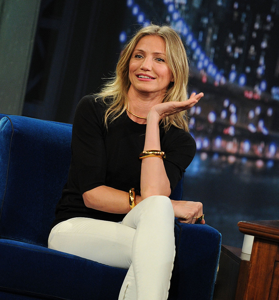 Cameron Diaz looked classy and casual for her TV appearance.
