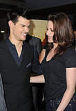 Taylor Lautner and Kristen Stewart shared a laugh at the LA Film Festival.
