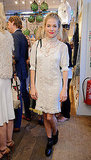 Sienna Miller was stylish in lace at Ralph Lauren's Wimbledon party.