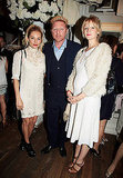 Sienna Miller and her sister Savannah Miller joined tennis legend Boris Becker at Ralph Lauren's Wimbledon party.