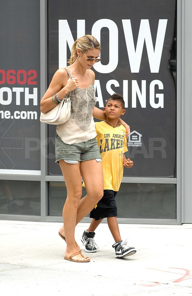 Heidi Klum and Henry Samuel walked around NYC.