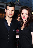 Taylor Lautner and Kristen Stewart struck a pose at the LA Film Festival.