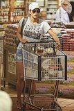 Halle Berry pushed her cart through Whole Foods.