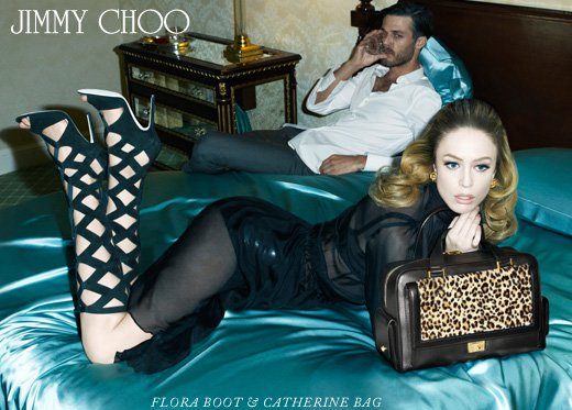 Raquel Zimmermann Gets Tough For Jimmy Choo's Fall Campaign