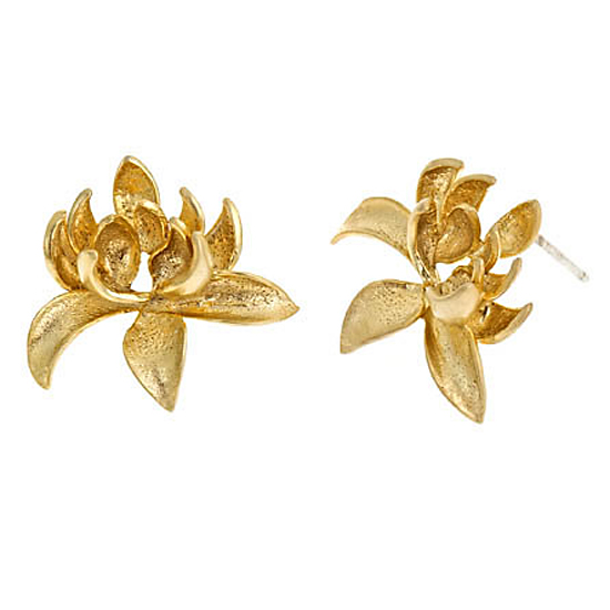 Blydesign Marty Lotus Blossom Stud Earrings, $52