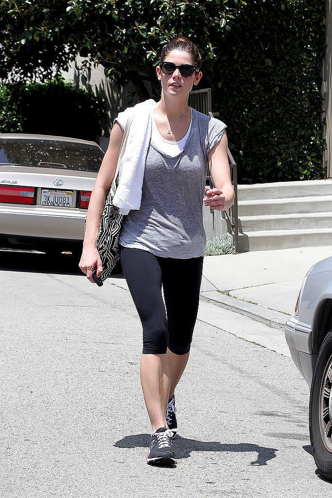 Ashley Greene showed off her fit form in workout gear.