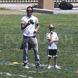 David Beckham Pictures at a Soccer Game With Brooklyn Beckham