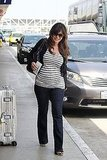 Happy Lindsay Price shows her baby bump.