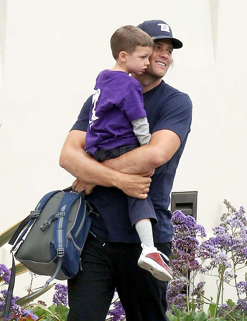 Tom Brady held his son Jack close.