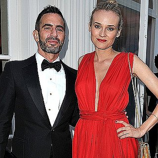 Diane Kruger Wearing Red Gown at amfAR Gala in Paris 2011-06-23 17:05:00