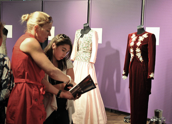 Diana wore this crushed red velvet gown to the 1985 premiere of Back to the Future.