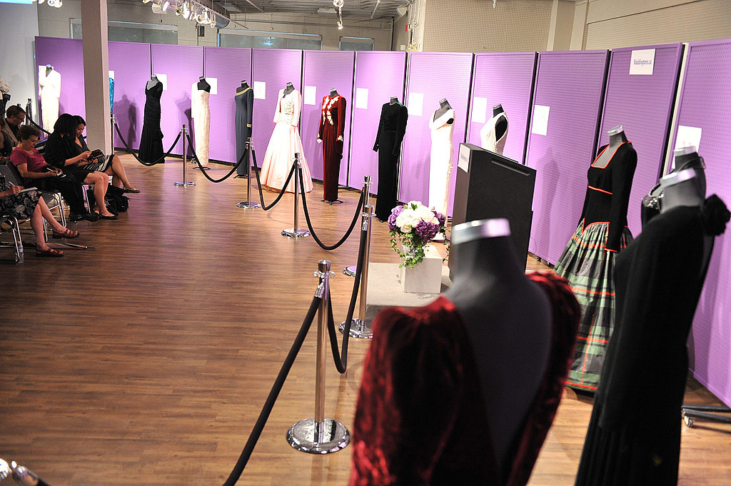 The dresses are on display at the Princess Diana dress auction.