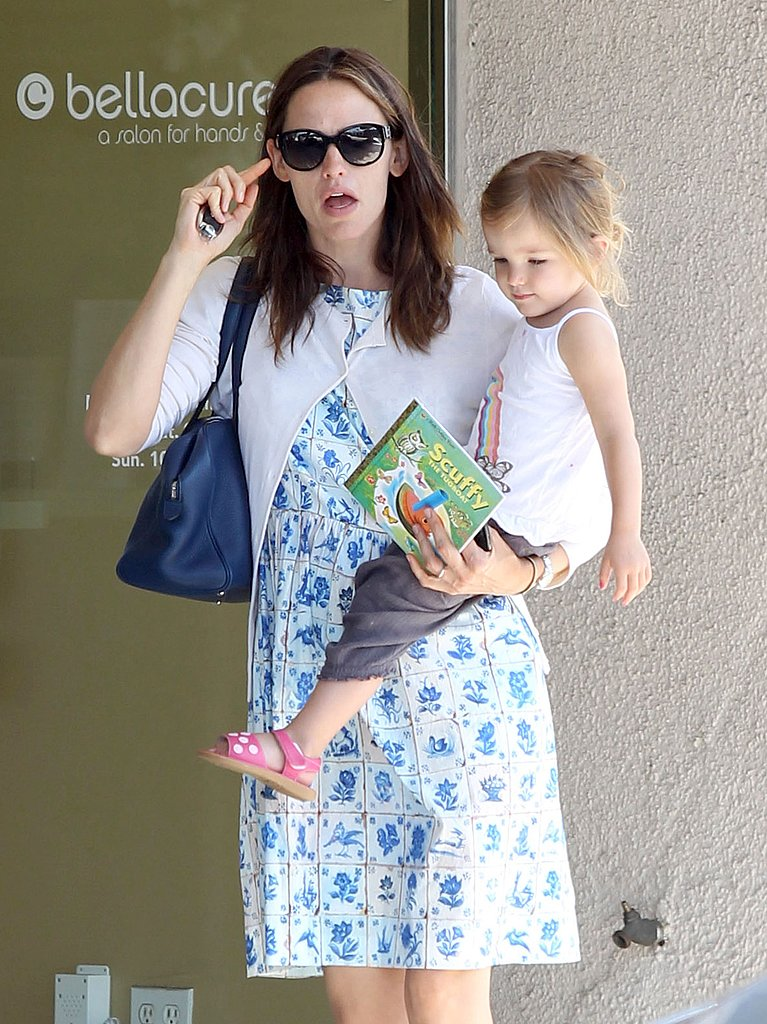 Jennifer Garner and Seraphina Affleck left Bellacures salon.