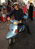Tom Hanks on a motorbike at the LA premiere of Larry Crowne.