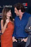 Penelope Cruz and Javier Bardem posed for photos together.
