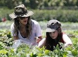 Rachel Bilson joked around with her sister.