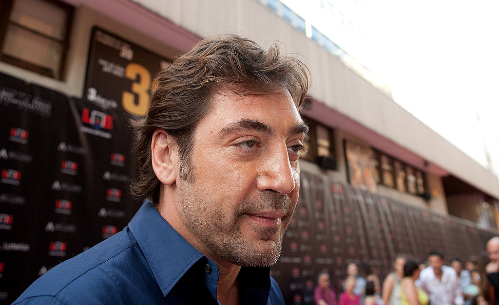 Javier Bardem chatted with the press in Madrid.
