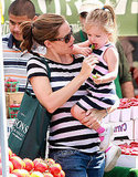 Jennifer Garner Keeps Her Adorable Girls Seraphina and Violet Happy at the Farmers Market