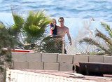 Brad Pitt stepped out shirtless at a water park in Malta with Knox.