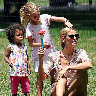 Pictures of Heidi Klum in NYC With Leni, Lou, Henry, and Johan
