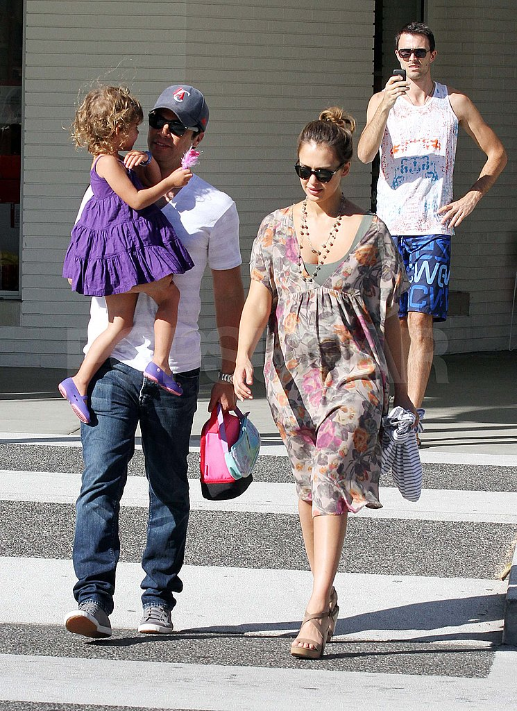 Jessica Alba, Cash Warren, and Honor were out in LA.
