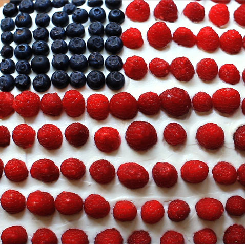 Learn How to Make a Flag Cake