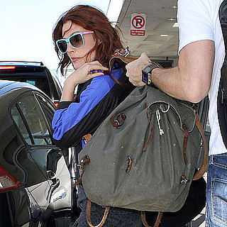 Pictures of Drew Barrymore and Chris Miller at LAX