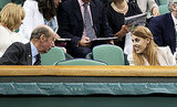 Princess Beatrice chatted in the royal box during Wimbledon.