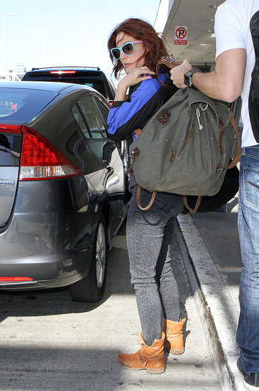 Drew Barrymore arrived at LAX.