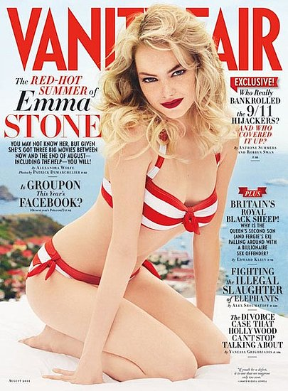 Emma Stone Throws On a Striped Bikini For August's Vanity Fair!