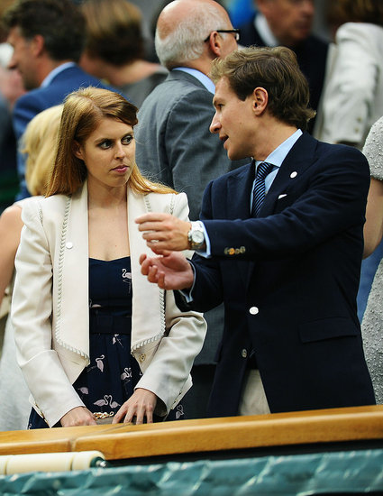 Dave Clark and Princess Beatrice took in a match at Wimbledon.