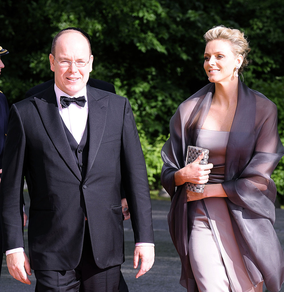 Prince Albert and Charlene Wittstock attend an event in Sweden prior to the wedding of Sweden's Crown Princess Victoria and Daniel Westling.