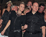 Prince Albert of Monaco and his fiancée, Charlene Wittstock of South Africa, attend concerts of Iggy Pop and the Stooges and ZZ Top on July 5, 2010.