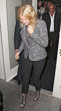 Gwyneth Paltrow left La Petit Maison with Sir Philip Green in London.