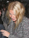 Gwyneth Paltrow met up with friends at La Petit Maison in London.