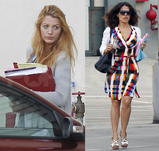 Blake Lively and Salma Hayek Meet to Discuss Their Savage Roles