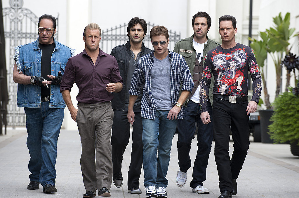Andrew Dice Clay, Scott Caan as Scott Lavin, Adrian Grenier as Vincent Chase, Kevin Connolly as Eric Murphy, Rhys Cairo as Billy Walsh, and Kevin Dillon as Johnny Drama, Entourage season eight.
