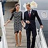Prince William and Kate Middleton in Erdem Pictures Arriving in Ottawa