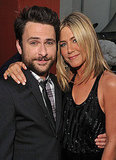 Jennifer Aniston and Charlie Day posed at the Horrible Bosses premiere.