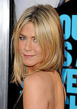 Jennifer Aniston gave a sultry stare over her shoulder.