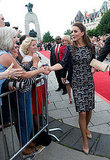 Kate Middleton met with fans in Canada.