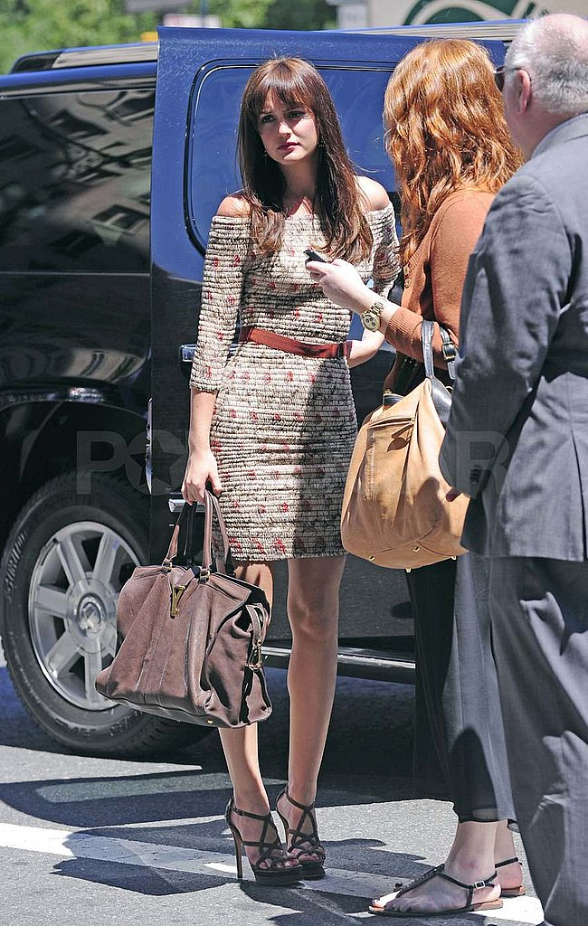 Leighton Meester wore a tight dress to do press for Monte Carlo.