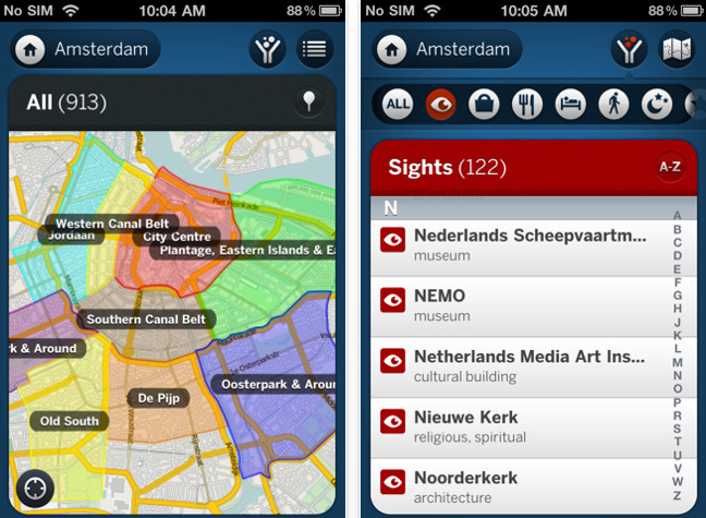 Lonely Planet Amsterdam App
