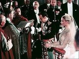 Prince Rainier and Grace Kelly are married in a gorgeous religious ceremony in Monaco's Saint Nicholas Cathedral.