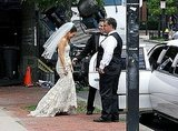 Mila Kunis followed Mark Wahlberg into the limo.