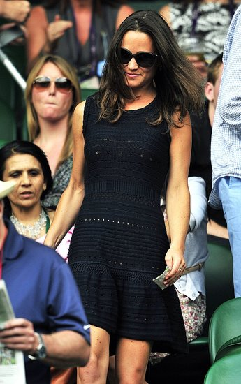 Pippa Middleton Hits Wimbledon Again, but Alex Loudon Sits the Match Out
