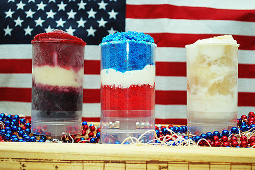 Red, White, and Blue Push-Up Pops For Fourth of July