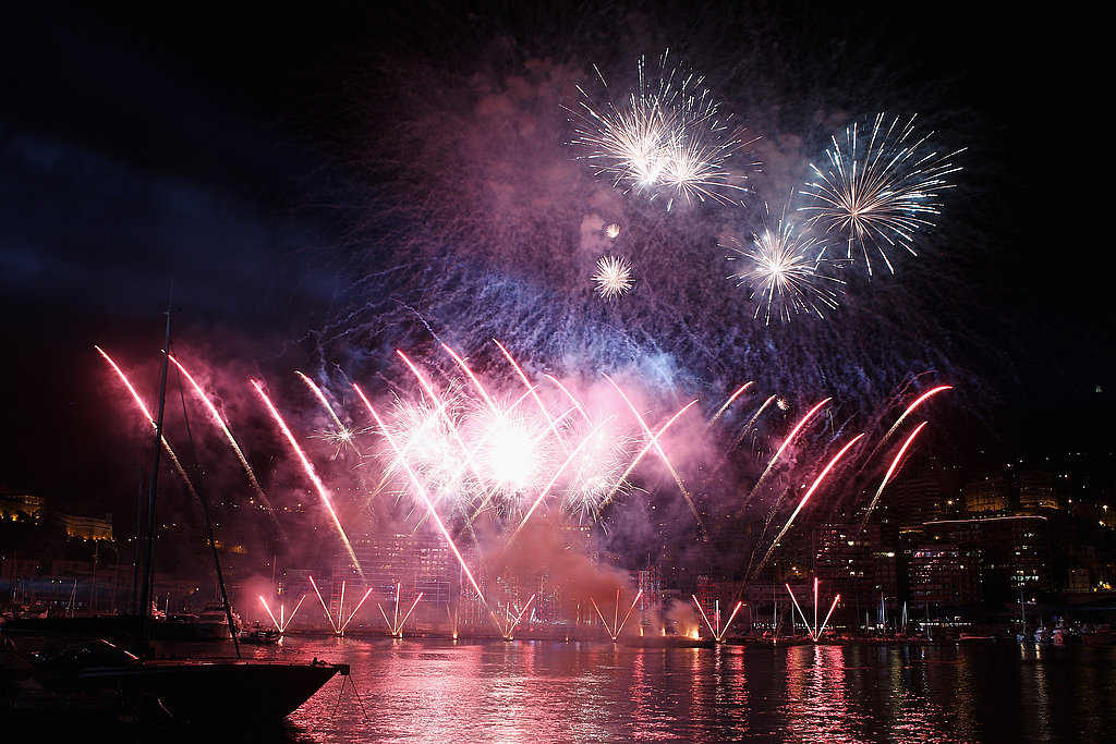 Big fireworks wow at the concert celebrations for Princess Charlene of Monaco and Prince Albert II of Monaco.