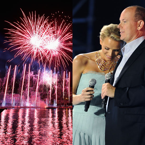 Fireworks at Princess Charlene of Monaco and Prince Albert II of Monaco's Concert